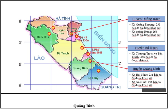 Survey and demining at Quang Binh province