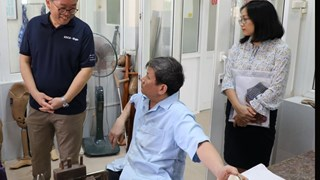 Binh Dinh: Director of KOICA Vietnam visited Quy Nhon Orthopedic and Rehabilitation Hospital