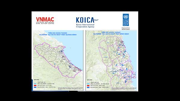 Tiến độ hoàn thành khảo sát và rà phá bom mìn tại Quảng Bình và Bình Định năm 2020