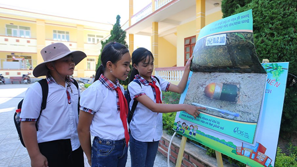 Quang Binh: Launching of the contest of School Ambassador in raising awareness about preventing accidents from bombs and mines for students in 2020