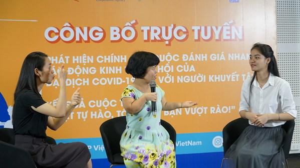 Công bố trực tuyến Đánh giá nhanh tác động kinh tế xã hội của COVID-19 đối với người khuyết tật ở Việt Nam