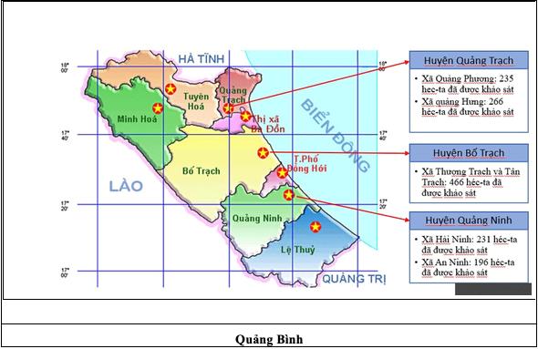 Khảo sát - rà phá tỉnh Quảng Bình