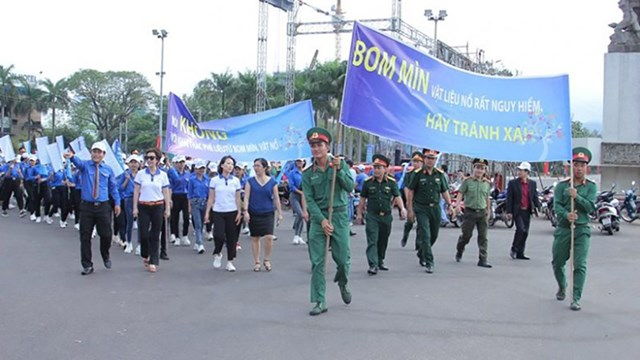 Tổ chức Lễ mít tinh hưởng ứng Ngày thế giới phòng chống bom mìn 2019 tại Bình Định