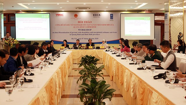 First-ever official database on persons with disabilities and unexploded ordnance survivors in Quang Binh and Binh Dinh provinces launched