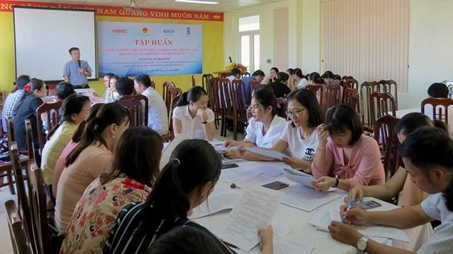 Kết quả thực hiện hợp phần tuyên truyền giáo dục đến tháng 9/2020 tại Bình Định
