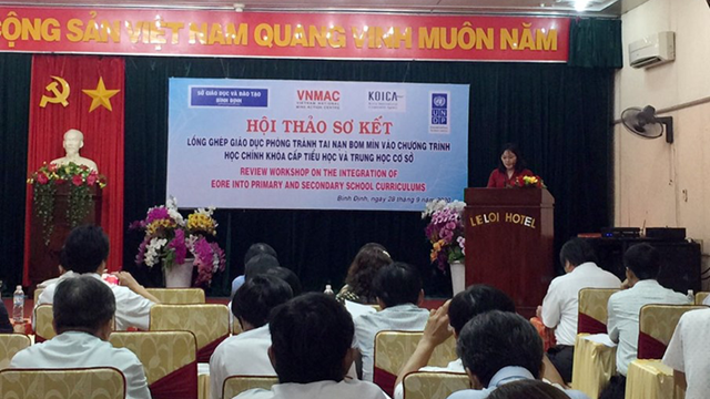 Overview of the Preliminary Workshop Integrating mine / UXO risk education in primary and secondary school curriculum in Binh Dinh