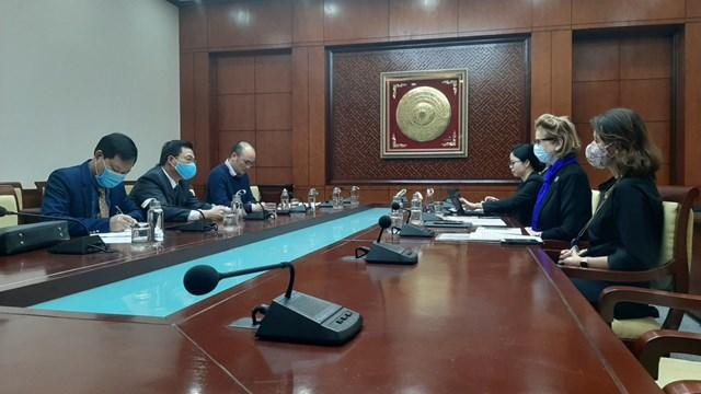 Tổng Giám đốc VNMAC làm việc với đại diện UNDP Việt Nam về kết quả dự án KVMAP