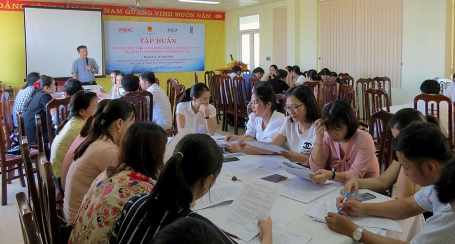 Binh Dinh: Positive results of the implementation supporting mine / UXO survivors Project until September 2020