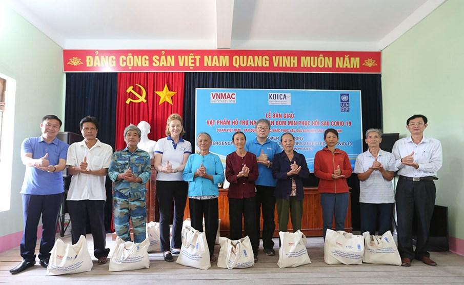 Hỗ trợ toàn diện cho các nạn nhân bom mìn trong dự án KVMAP