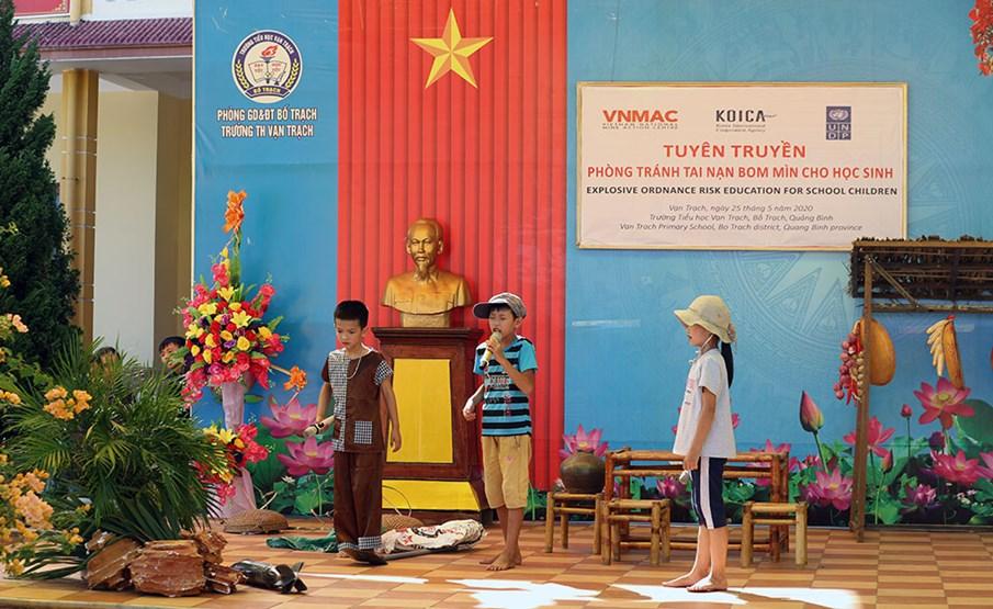 Kế hoạch giáo dục phòng tránh tai nạn bom mìn cho trẻ em năm 2020 trong dự án KVMAP