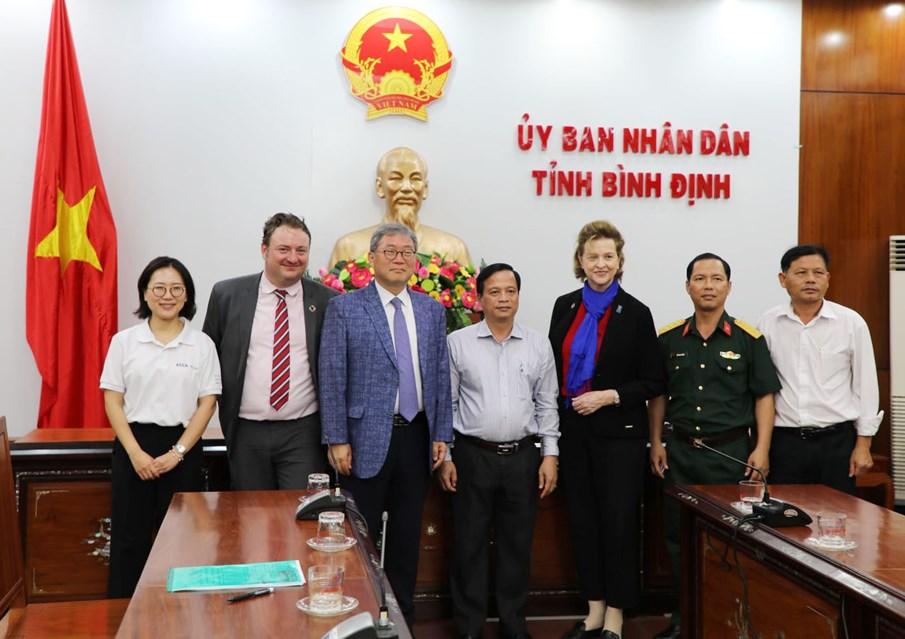 Tỉnh Bình Định sẽ sử dụng hợp lý khu đất đã được xử lý ô nhiễm do bom mìn được bàn giao trong dự án KVMAP