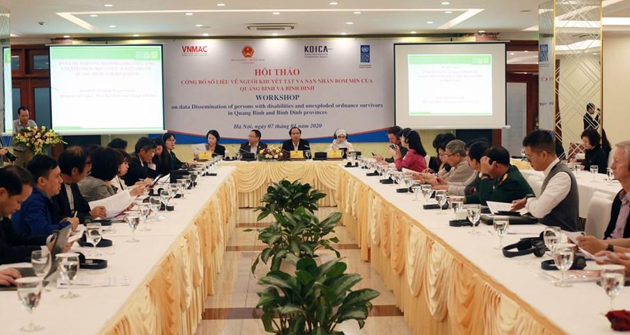 Kết quả của việc đánh giá và công bố số liệu về người khuyết tật tại Quảng Bình và Bình Định