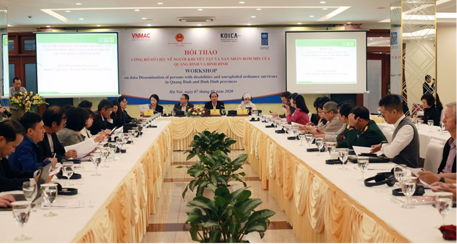 Results of the assessment and publication of data on people with disabilities in Quang Binh and Binh Dinh