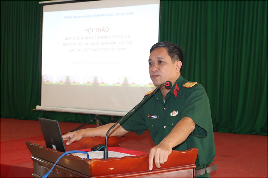 Review workshop on draft Information Management Regulations for mine action projects in Viet Nam