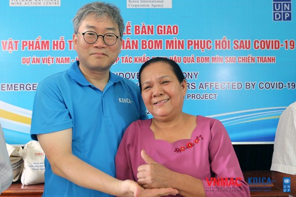 Quang Binh: Supporting UXO survivors affected by the COVID-19 pandemic