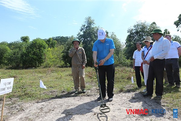 Progress of completing mine survey and clearance in Quang Binh and Binh Dinh in 2020